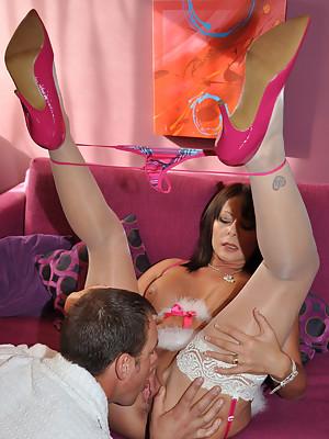 Sexy MILF Carly Cum Slut in Stockings